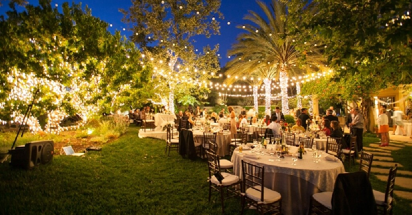 Elegante Catering Backyard Wedding Reception