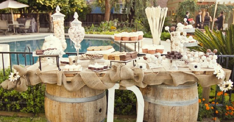 Elegante Catering Rustic Wedding Reception